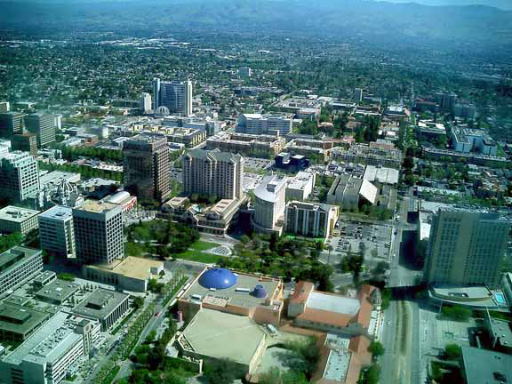 San Jose, California aerial picture